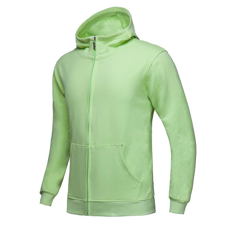 [HP067]  380克全棉法拉绒磨毛套头拉链卫衣