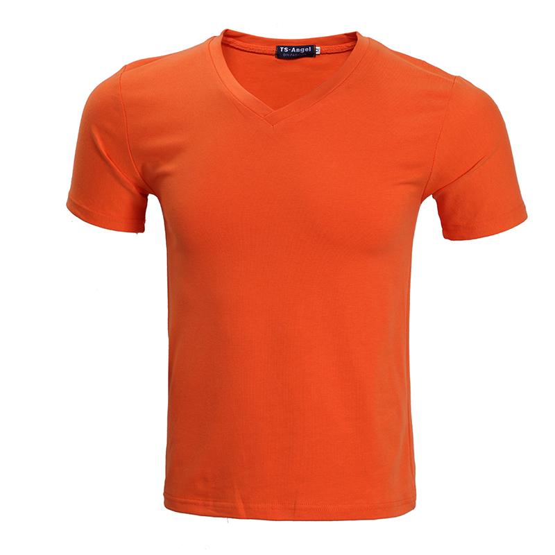 [HPTS024]  莱卡V领T恤