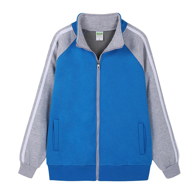 [HPTS095]  摇粒绒3条插肩立领卫衣